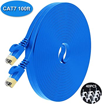 5 ft CAT6 Network Ethernet Patch Cable XBOX PS3 5 feet GIGABIT 500MHz Blue