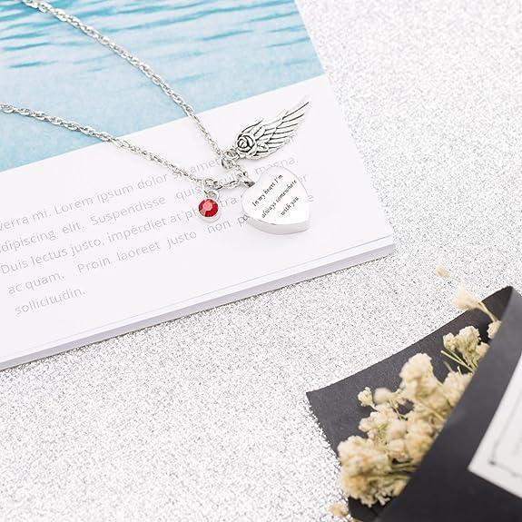 Cristal cenizas urna de la cremación Collar Grabado Real flor prensada recuerdo urna