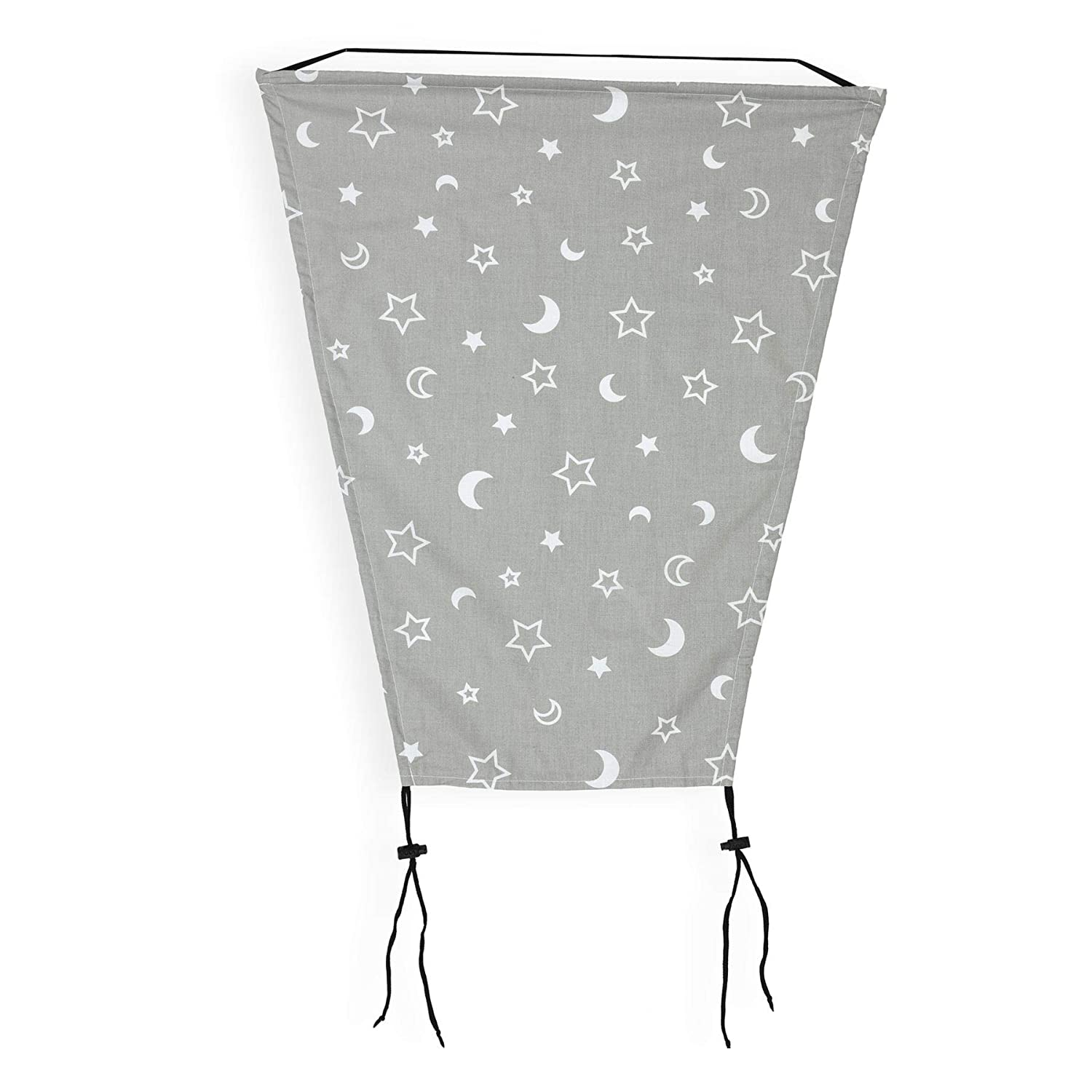 OLOBABY Sun Shade with UV Protection Universal Baby Sun Sail for Pram Pushchair Moon /& Star Grey Buggy Stroller