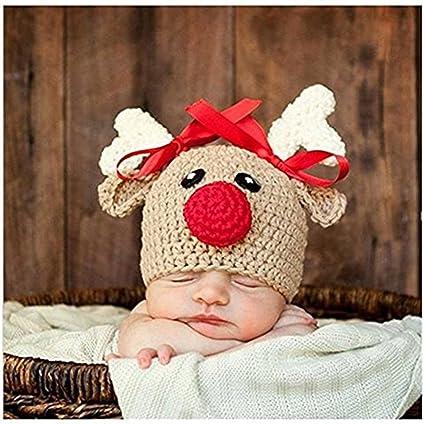 Bebé recién nacido fotografía apoyos niño Niña Gorro de Crochet para  adulto 8d38c6918a3