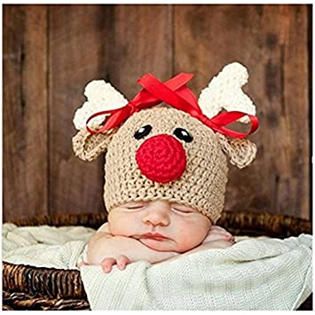 Bebé recién nacido fotografía apoyos niño Niña Gorro de Crochet para  adulto 3b582e879f1