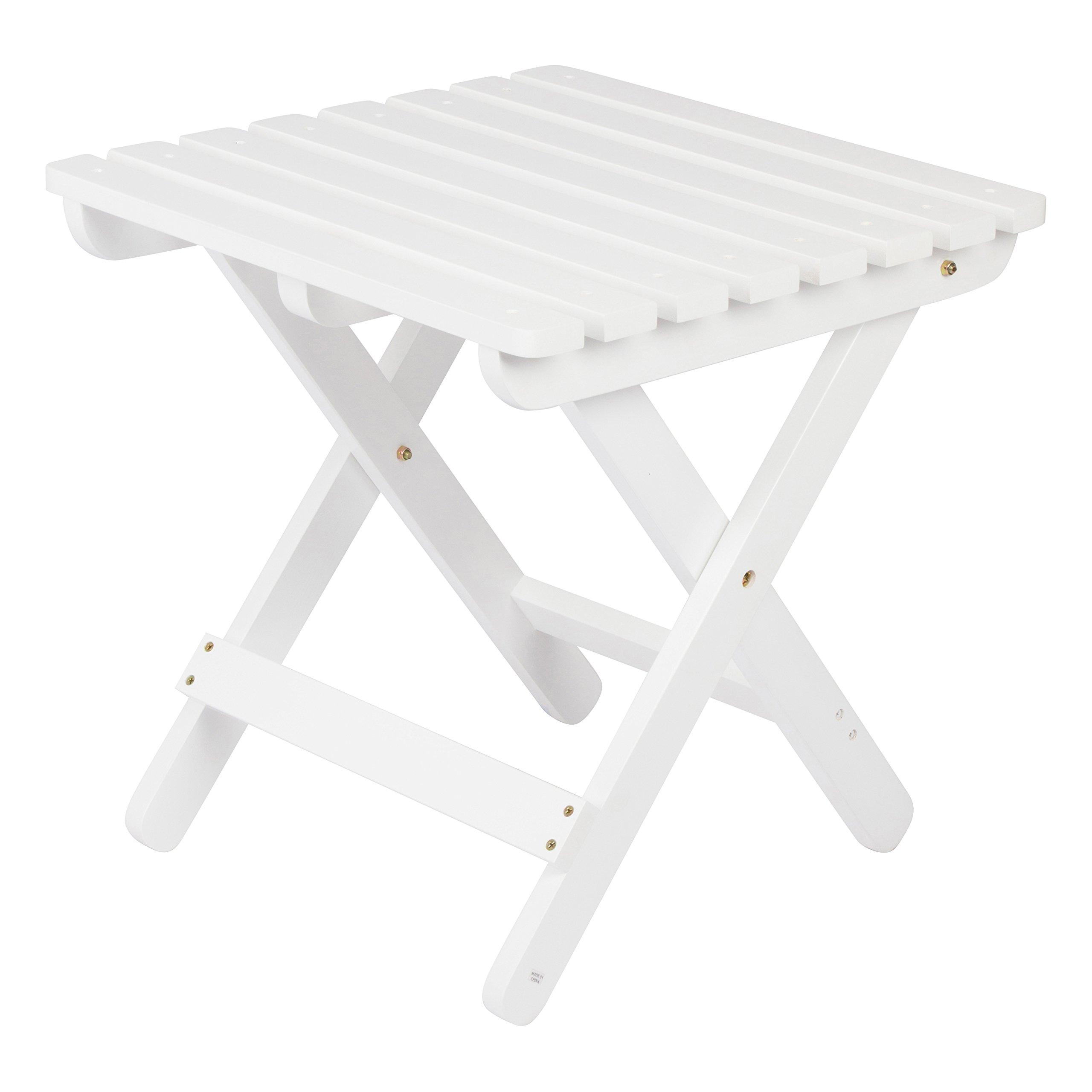 Shine Company 4109WT Adirondack Square Folding Table, White by Shine Company