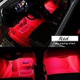 Car Interior Lights, EJ's SUPER CAR 4pcs 36 LED DC 12V Waterproof Atmosphere Neon Lights Strip for Car-Car Auto Floor…