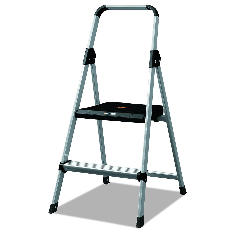 Black & Decker BXL2260-02 Two Step Aluminum Step Stool, 225-Pound Capacity