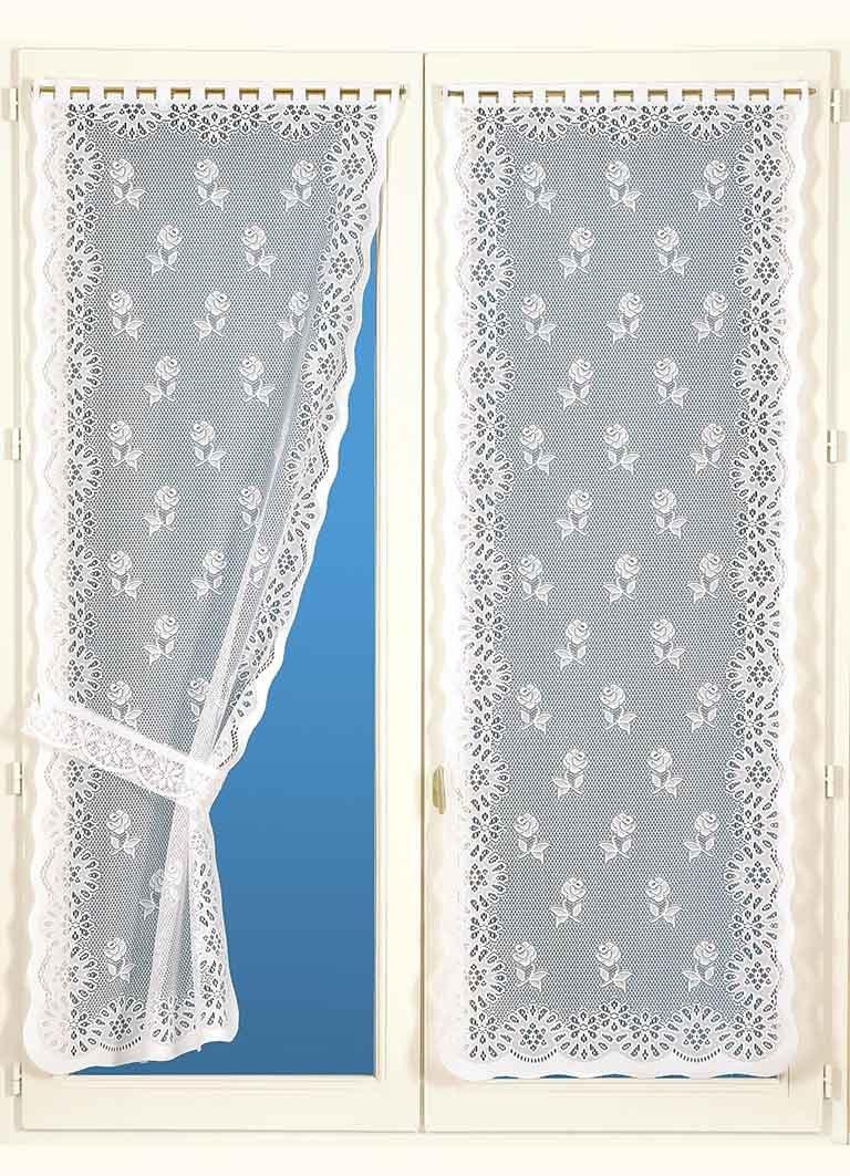 Poliestere Bianco /Coppia di Tende con fermatenda Homemaison buona Donna/ 220/x 60/cm