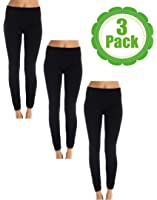American Casual Women's Seamless 3 Pack Fleece Lined Leggings