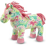 Melissa & Doug Ashley the Horse Stuffed Animal With Paisley Pattern - Ultra-Soft Fleece