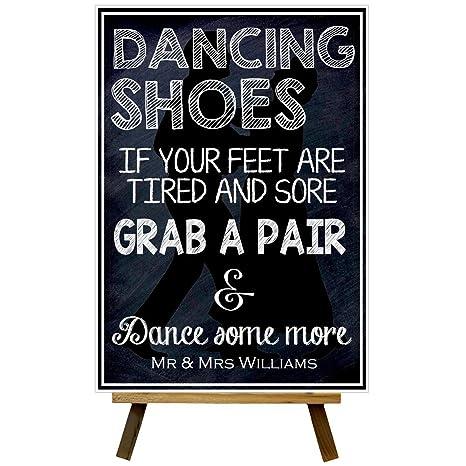 Pizarra con mensaje personalizable de baile para bodas, A5 ...