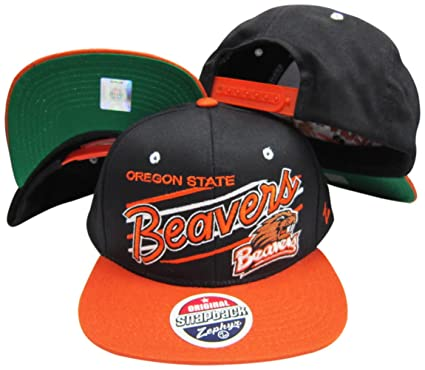 newest 0cbf3 e05b1 ... shop oregon state beavers diagonal script black orange adjustable snapback  hat cap 6823c a383c