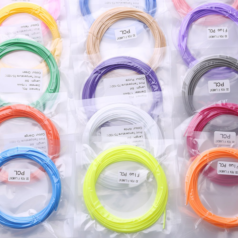 PCL Filamento para impresora 3D Pen 1,75 mm 20 colores: Amazon.es ...