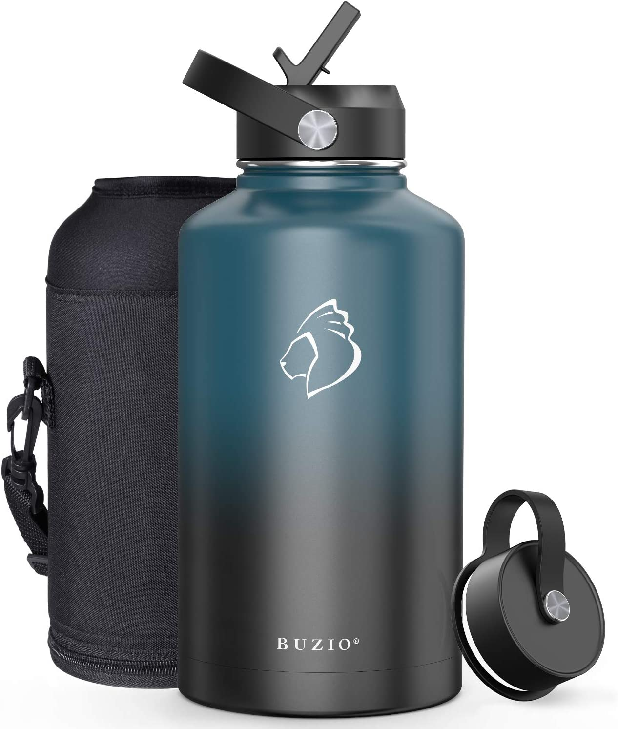 BUZIO Insulated ! Super beauty product restock quality top! Water Bottle with Nashville-Davidson Mall Straw Flex Cap and Lid 32oz