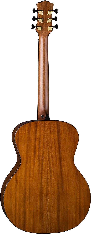 Satin Natural Luna Art Recorder All Solid Wood Concert Acoustic Guitar