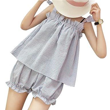 5e72d38ea0f2 TOMORI Womens Cute Plaid Pajamas Lolita Bowknot Sleepwear Bloomers Shorts  Japanese Lingerie (Blue)