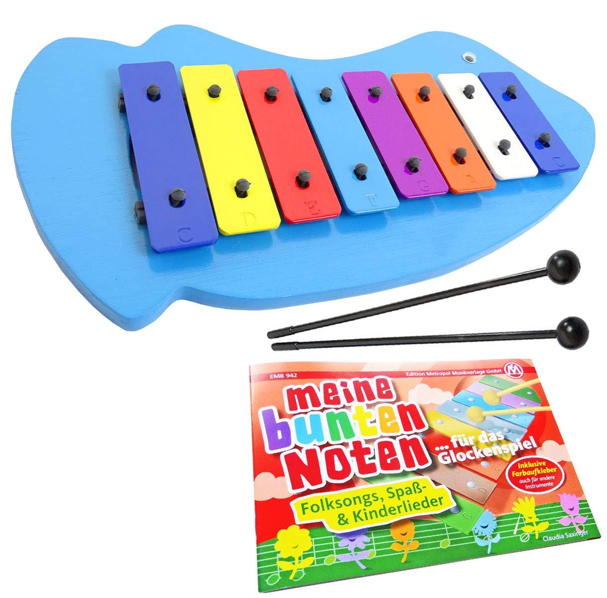 Keep Drum Glockenspiel Pesce quaderno Mia colorato note musicali/ /Imparare con colori
