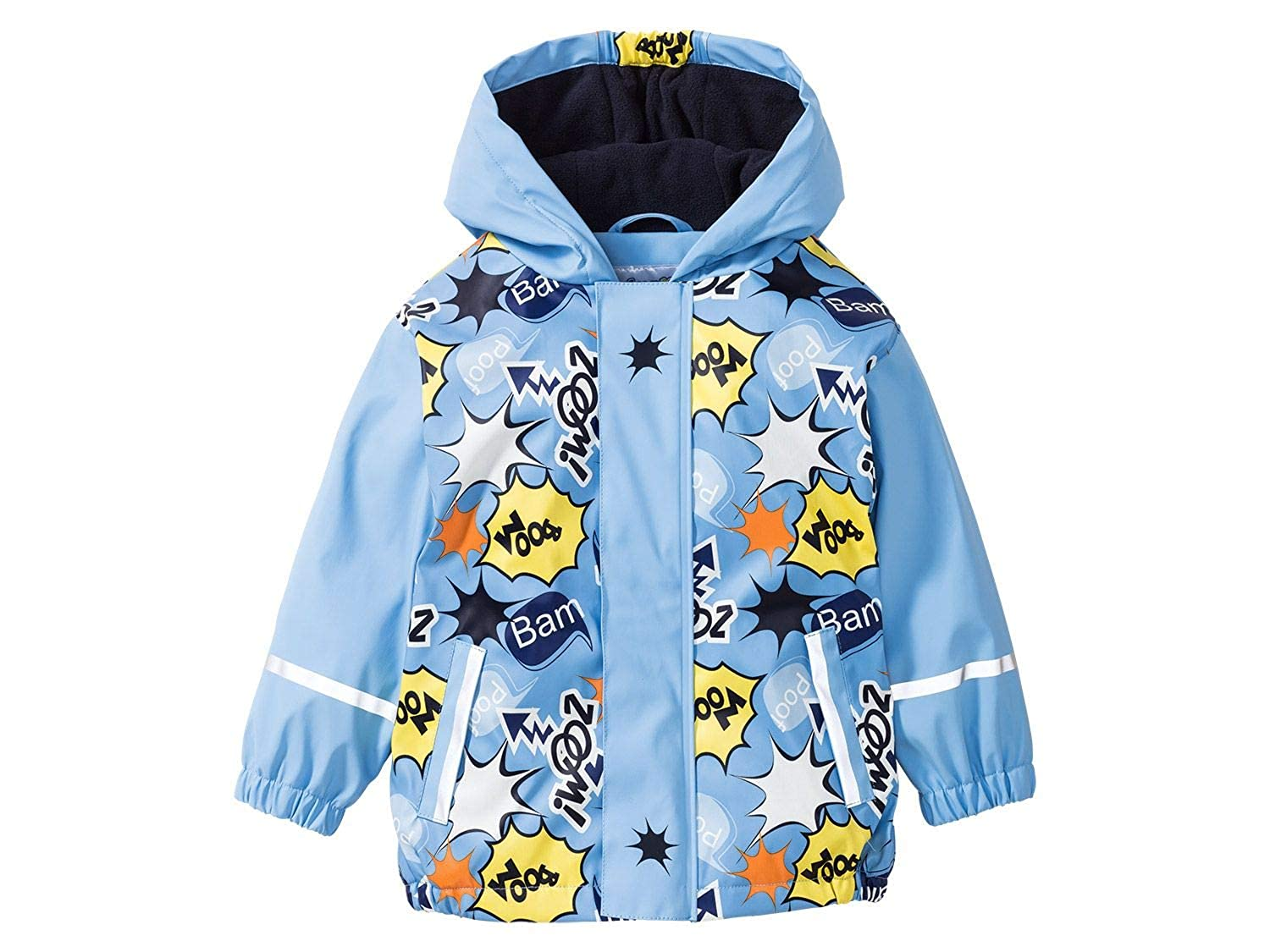 DAYU Boys Waterproof Hooded Jackets Fleece Lined Rain Jackets DAYU INC.