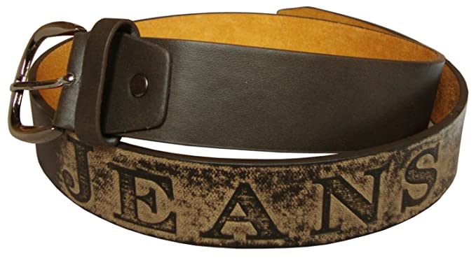 """Mens 1.5/"""" Leather Belts In Black Brown or Tan With Chunky Buckle Sizes 32/""""-48/"""""""