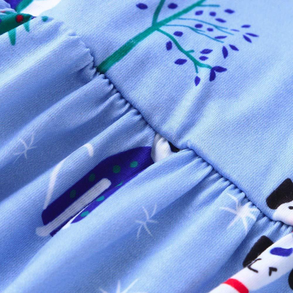 RDTIAN 0-6 Years Kids Baby Boys Girls Christmas Blouse Pants Family Pajamas Set