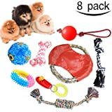 Dog Toys Set (8 Pack) Puppy Toys Dog Puzzle Toys Durable Chew Teething Rope Interactive Toy Dog Frisbee for Small & Medium Sized Dogs by Stwieedium Dogs - 8 Pack Variety Pet Dogs Toy Set by STWIE