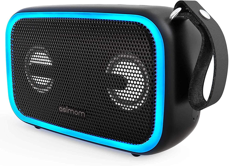 Asimom IPX7 Waterproof Bluetooth 5.0 Speaker with Enhanced Bass