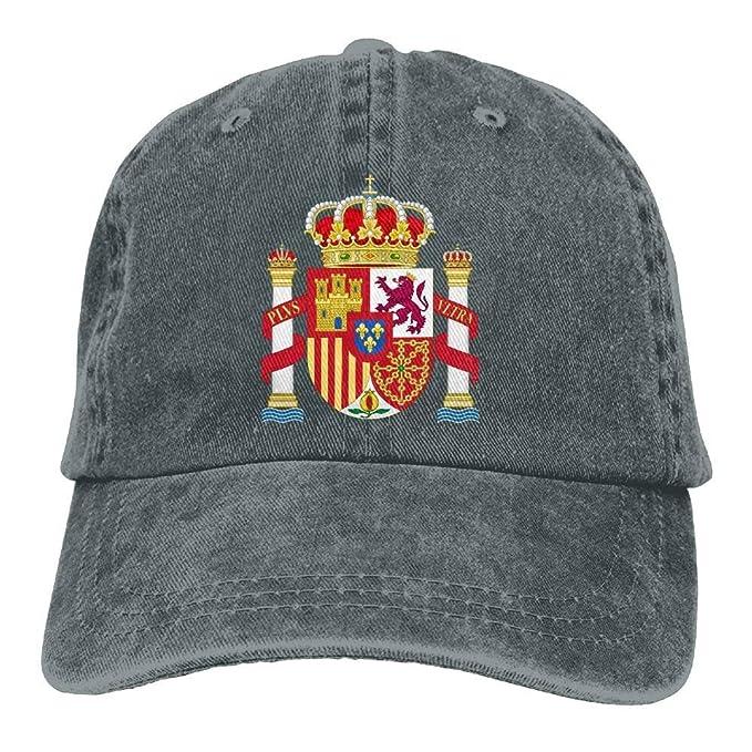 Sdltkhy Gorras de béisbol Ajustables Emblema Nacional de España ...