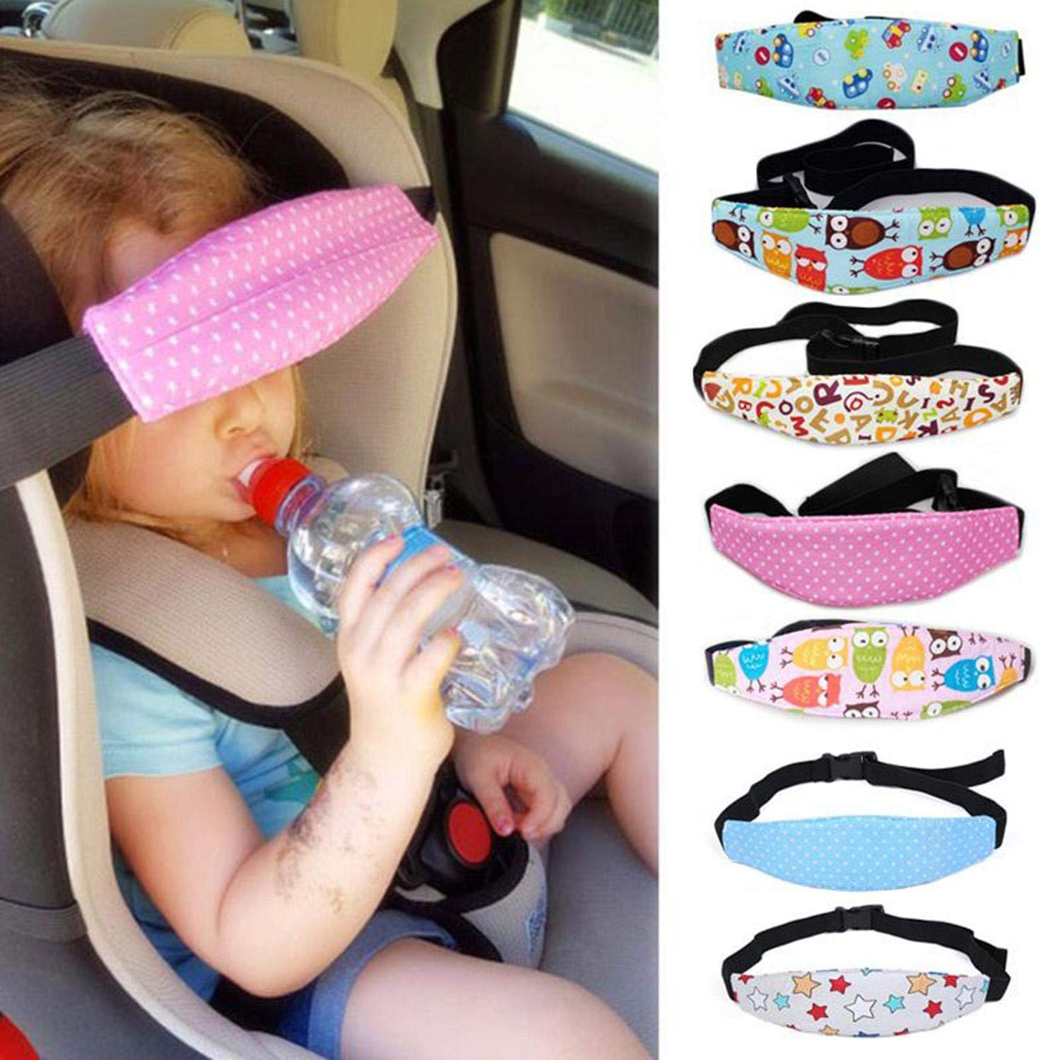 Eubell Pillow for Toddler Baby Head Support Safety Car Seat Head Fixing Auxiliary Belt