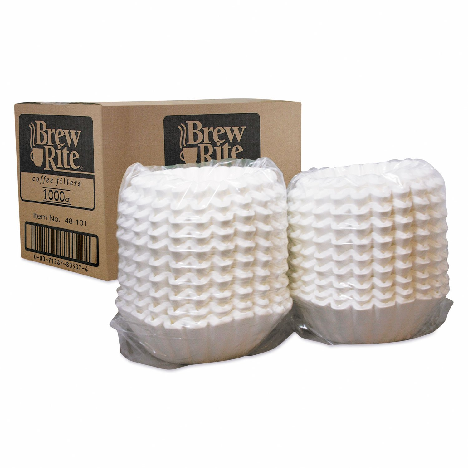 Basket Filters For Commercial Coffeemakers, 10 Cups, 1000 Filters/carton