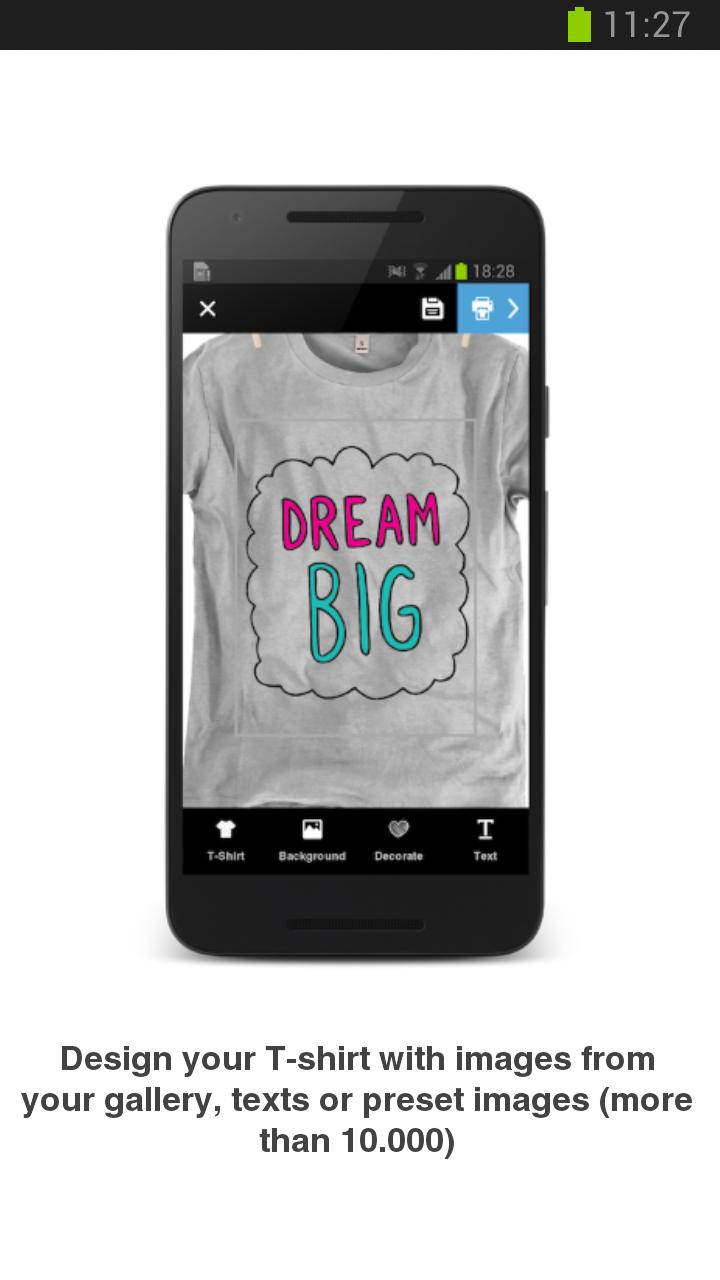 Diseña e imprime tu camiseta  Amazon.es  Appstore para Android d8c3eb73f51af