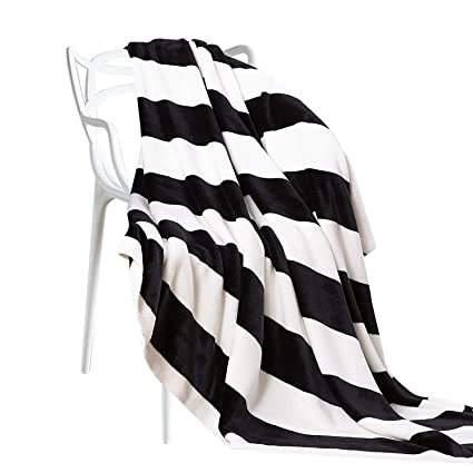 Amazoncom Ntbay Flannel Throw Blankets Super Soft With Black And