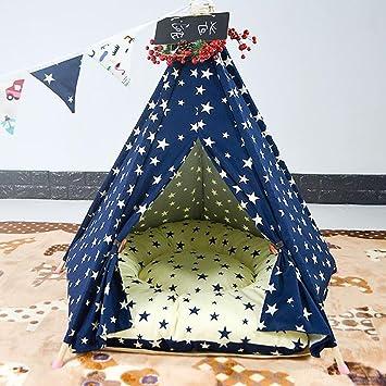 DIAMO Teepee para Mascota, Cama para Perros extraíble y Lavable Pet Play Tent House para Mascota para Perro de Gato, 60 * 60 * 70CM: Amazon.es: Deportes y ...