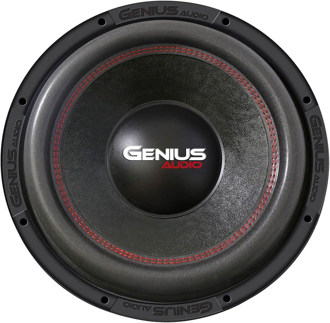 Genius N6-12D4 12 800 Watts-Max Nitro XP Dual 4-Ohms Car Audio Subwoofer