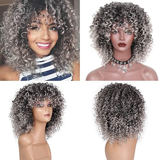 Amazon.com: ❤️❤️ Gray Hair Short Curly Wig