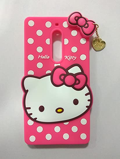 huge discount 29ef2 fc5e0 Trifty Nokia 5 Girl's Back Cover Hello Kitty Silicon with Pendant - Pink