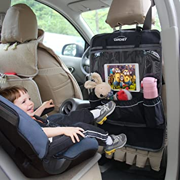 Amazon.com: Car Seat Back Organizer with Tablet Holder - Touch ...
