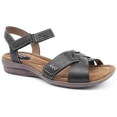 4e1d1c8e1ef5 Clarks Ladies Reid Laguna Black Flat Sandals Size 8  Amazon.co.uk ...
