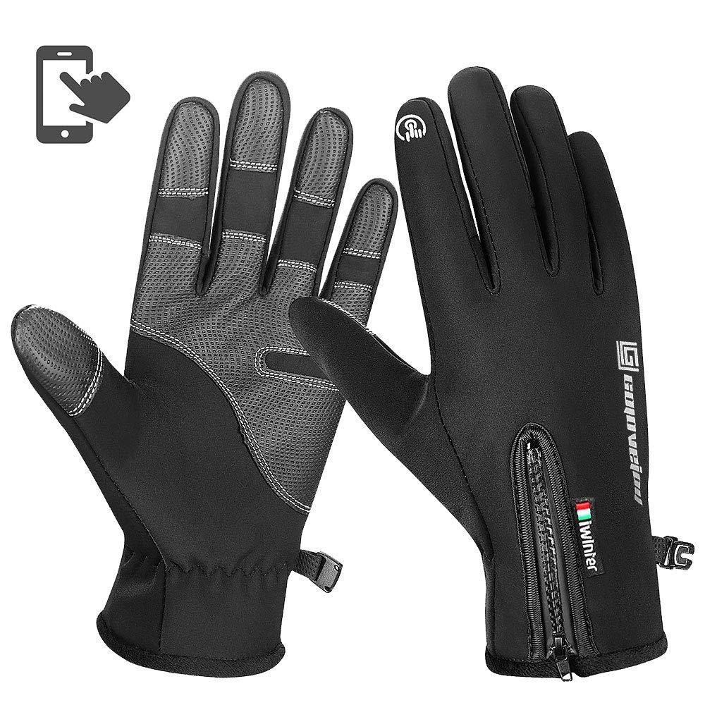 AODOOR Touchscreen Handschuhe, Fahrradhandschuhe Mä nner Winter Sport Touchscreen Motorrad Frauen Gefü ttert Laufhandschuhe fü r Radfahren, Motorradfahren, Wandern und andere Outdoor-Aktivitä ten AS18101501DE
