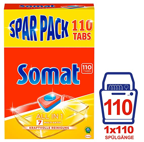 Somat 7 - Pastillas para lavavajillas, todo en 1: Amazon.es ...