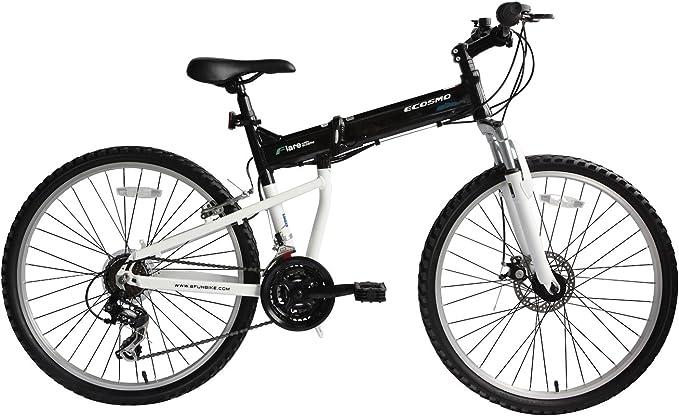 ECOSMO 26Ruedas Plegable de Aluminio MTB Bicicleta Shimano 26AF18BL