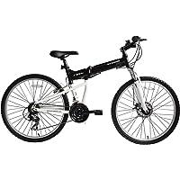 Ecosmo vélo VTT pliable Shimano 26AD18BL, roues en aluminium de 26 pouces