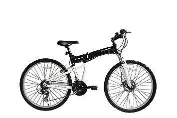 "ECOSMO 26AF18BL - Bicicleta plegable con ruedas de 26"" MTB, marco de aluminio,"