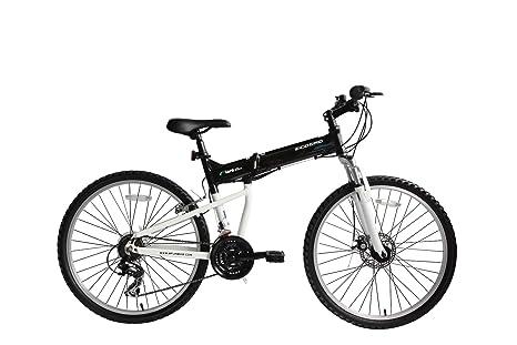 Bicicleta MTB plegable Ecosmo 26AF18BL con ruedas de 26