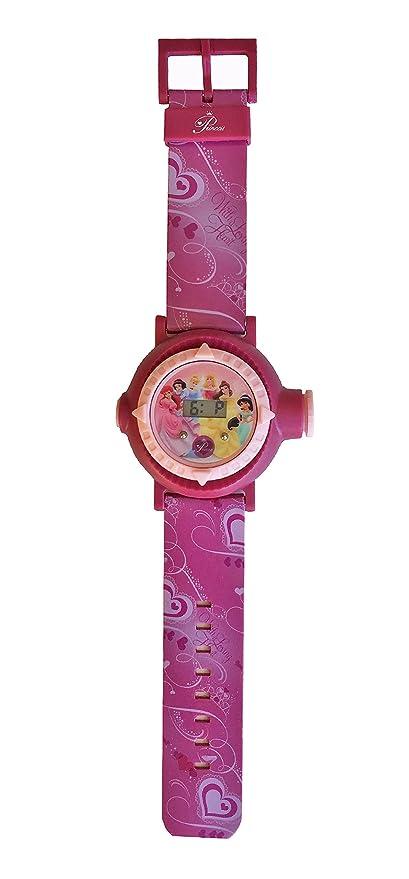 Reloj digital para niños con proyector de imágenes de personajes Disney - Princesas