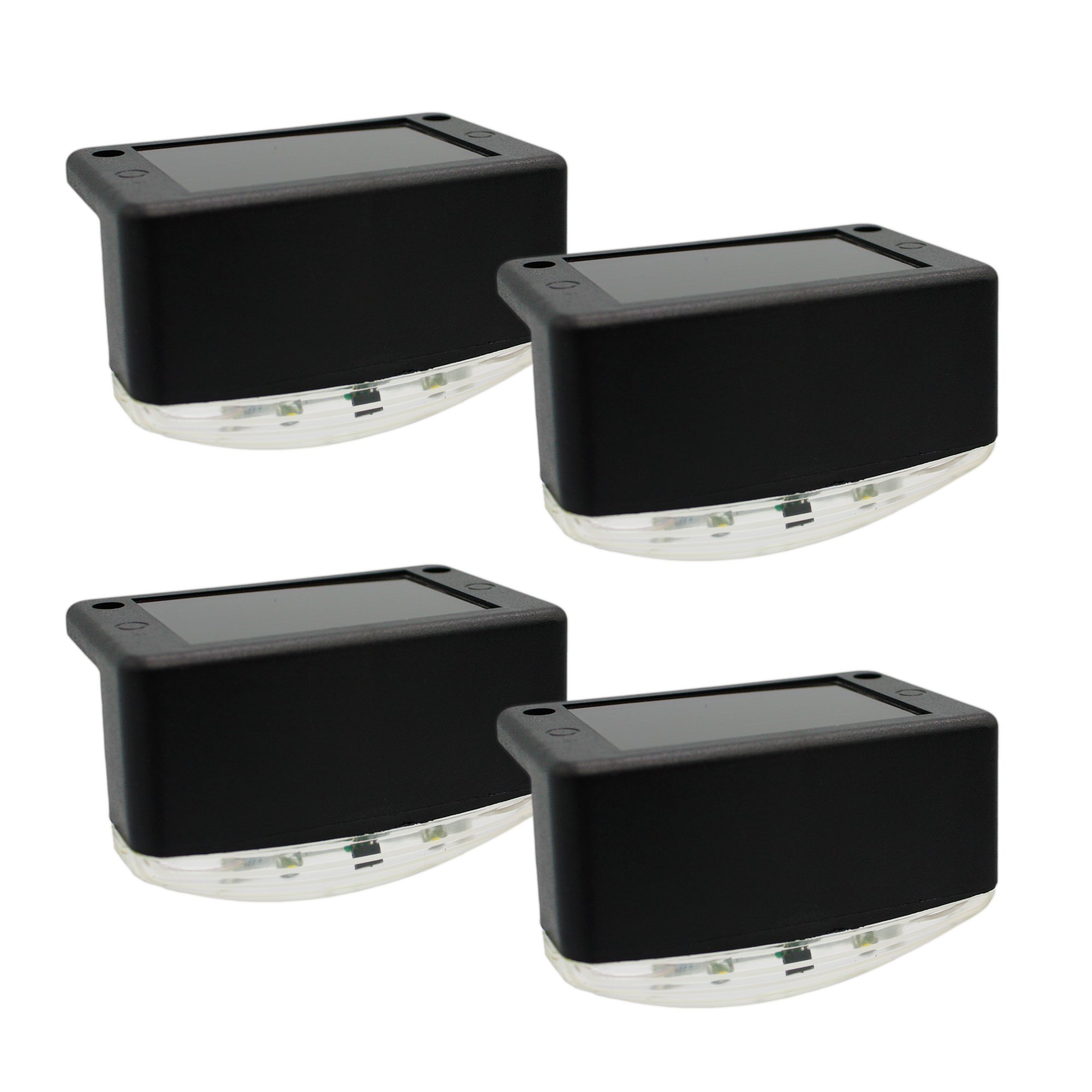 Davinci Solar Outdoor Lights - Lighting for Deck Post Fence Steps or Dock - Bright Warm White LED, Waterproof, Wireless, Slate Black (4 Pack) by Davinci Lighting