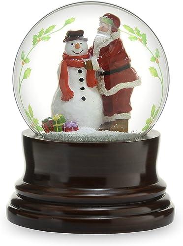 The San Francisco Music Box Company Musical Santa W Snowman