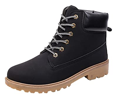 Mens Womens Chukka Ankle Boots Lace Up Fashion Waterproof Anti-Slip Outdoor Work Hiking Martin Combat Bootie Boot