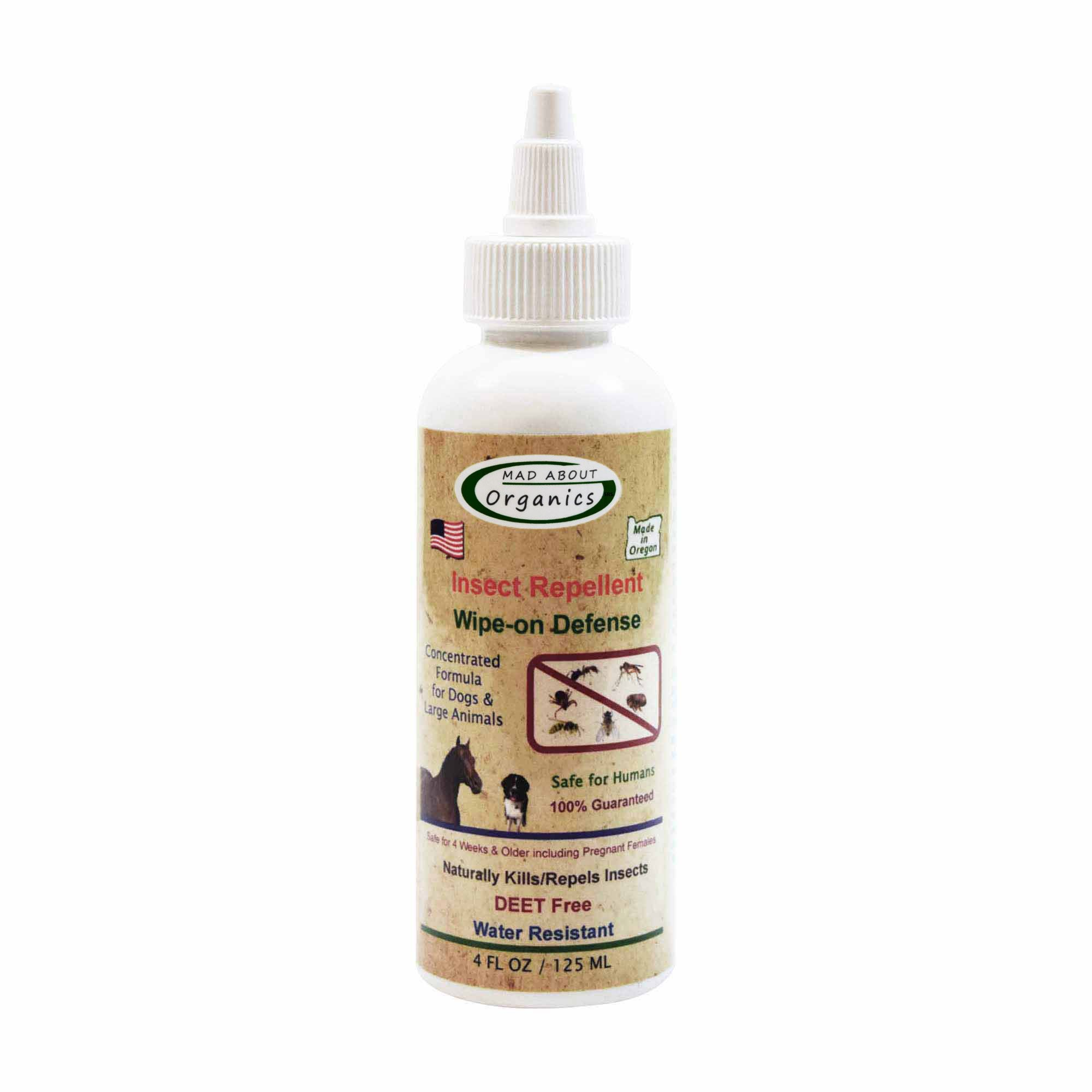 Mad About Organics All Natural Horse/Farm Animal Insect Repellent Wipe-on Defense 4oz by Mad About Organics (Image #1)
