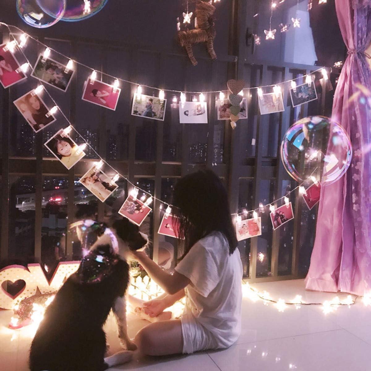 BigBig Style Camera dei Bambini Deco della Parete Clip di Foto a LED Luci della Stringa 40 Luci di Foto a LED Clip della Stringa Luci a Batteria per Arredamento Ufficio Camera da Letto a Casa