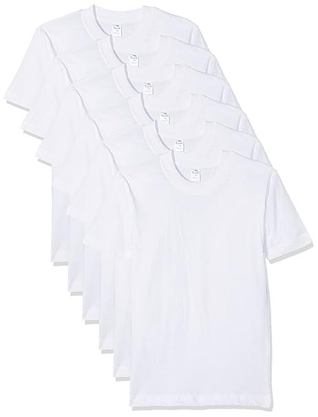 36f925fb24821 Abanderado Pack x 6 Camisetas Manga Corta Blanco 12 años (152 cm)  Amazon.es   Ropa y accesorios