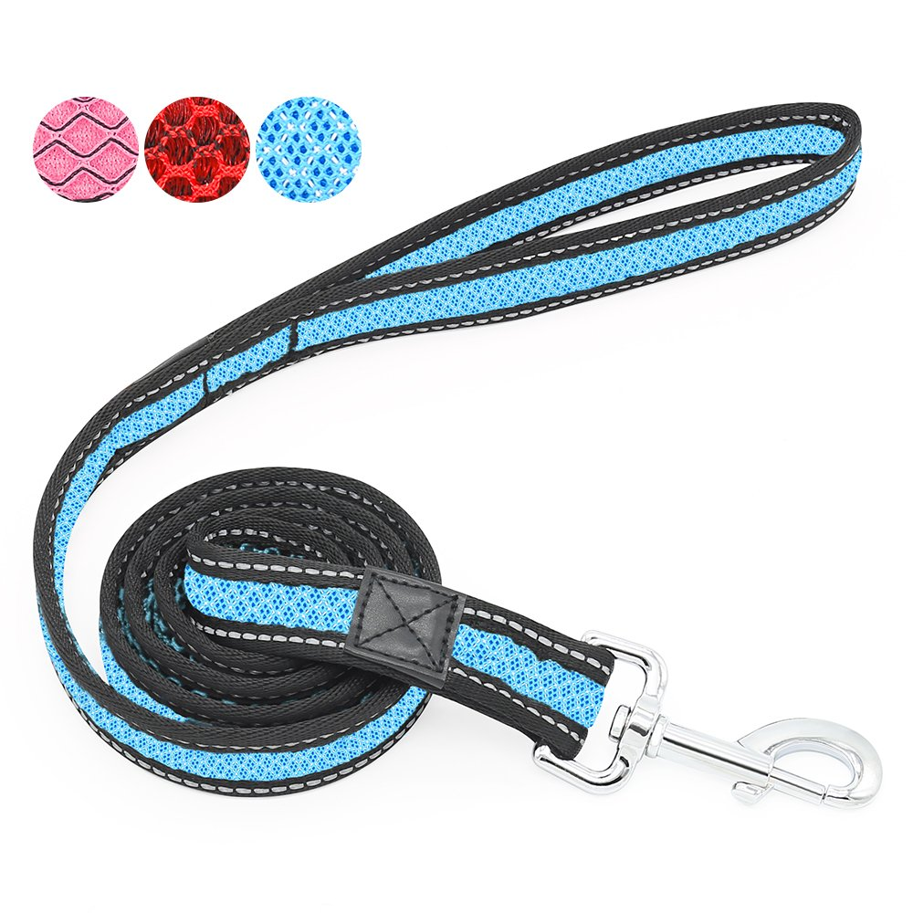 bluee 47 inch bluee 47 inch Heavy Duty Dog Leash, 4 ft Long Reflective Dog Leash, Comfortable Handle for Walks, Safety Dog Lead for Small Medium Large Dogs (bluee)