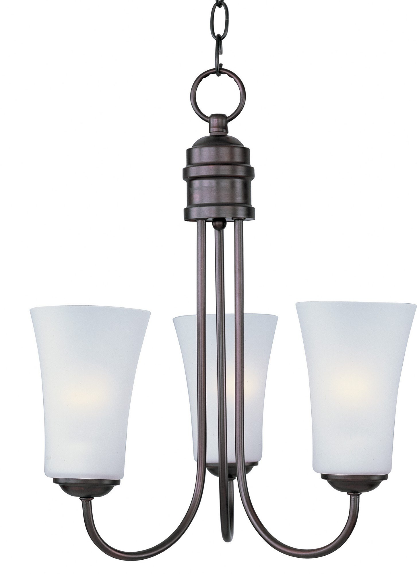 Maxim 10043FTOI Logan 3-Light Chandelier Wall Sconce, Oil Rubbed Bronze Finish, Frosted Glass, MB Incandescent Incandescent Bulb , 100W Max., Dry Safety Rating, Standard Dimmable, Glass Shade Material, 3450 Rated Lumens by Maxim Lighting (Image #1)