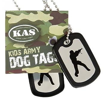 Placas de identificación del ejército - acero inoxidable Placas de identificación militares - incluyendo silenciadores - para niños / adultos